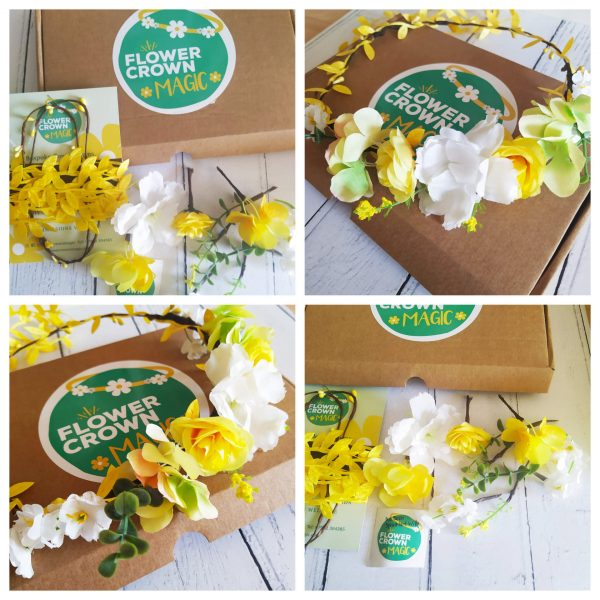 Yellow and Orange Kids DIY Flower Crown Kit