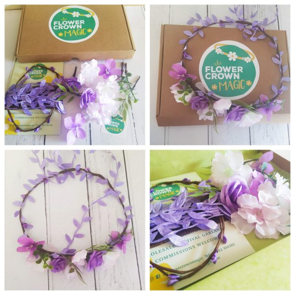 lush lilace white kids flower crown kit