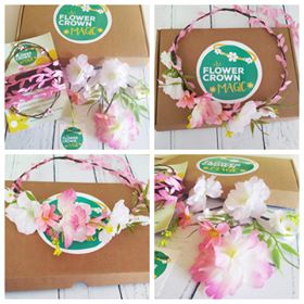 childrens pink flower crown kit