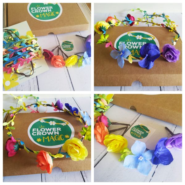 rainbow razzamataz kids diy flower crown kit