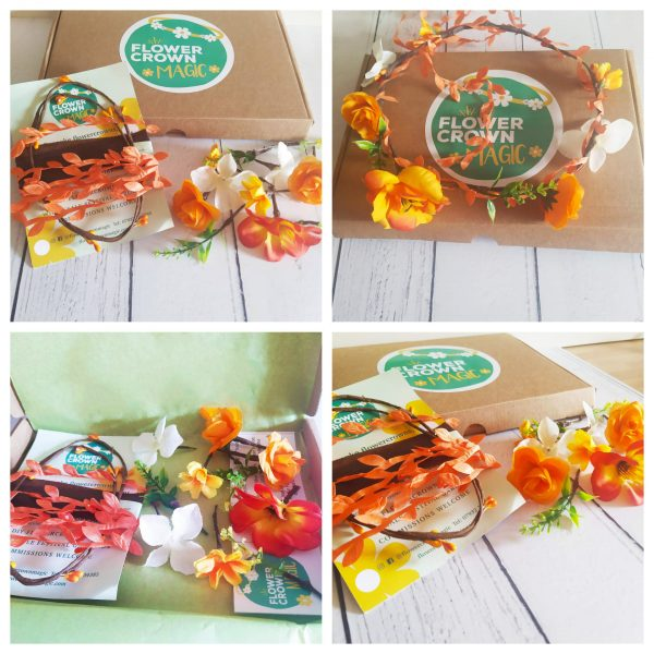 zesty orange diy kids flower crown kit