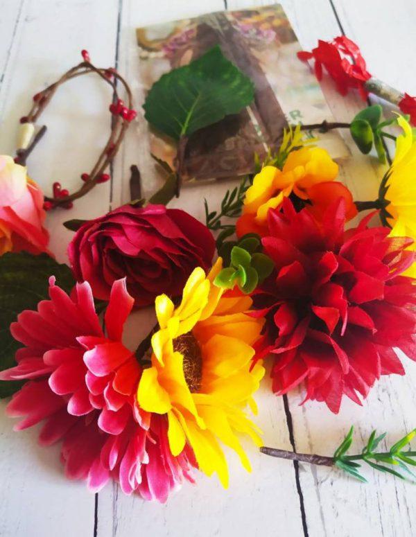 Frida Kahlo DIY Flower Crown