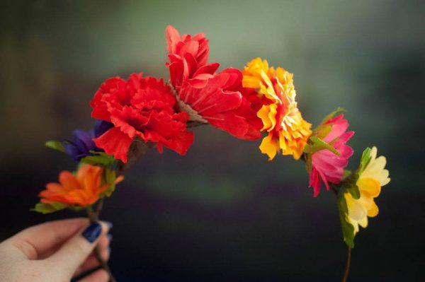 DIY Frida Kahlo Day of The Dead Mexican Flower Crown Making Kit