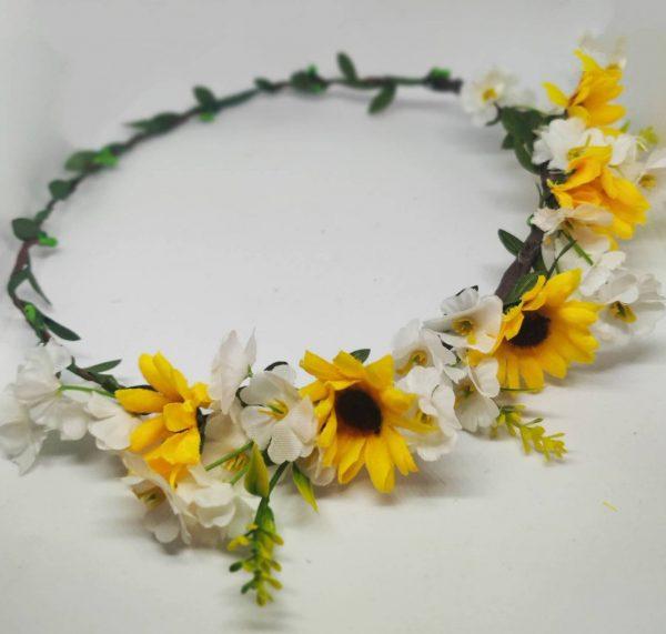 Sunflower Flower Crown Close Up