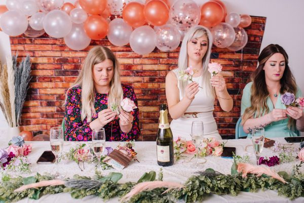 enjoy making diy flower crowns at your hen party