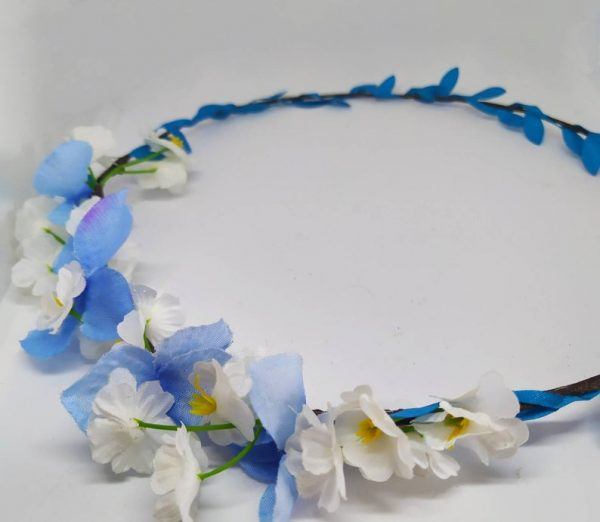 Blue and White Flower Crown