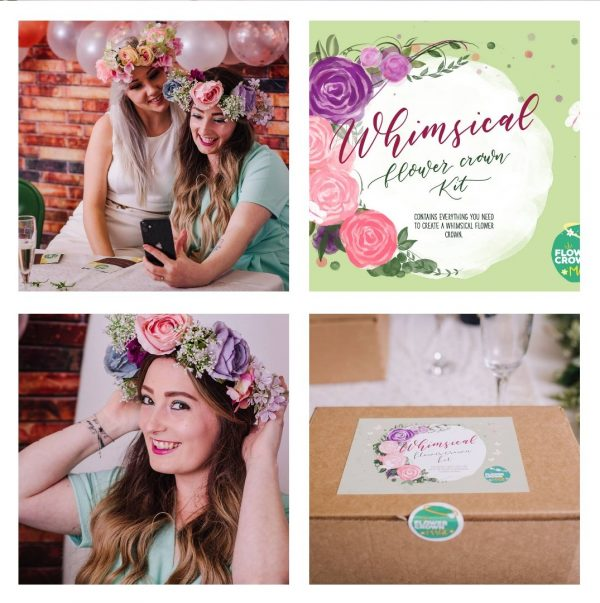making a whimsical flower crown kit