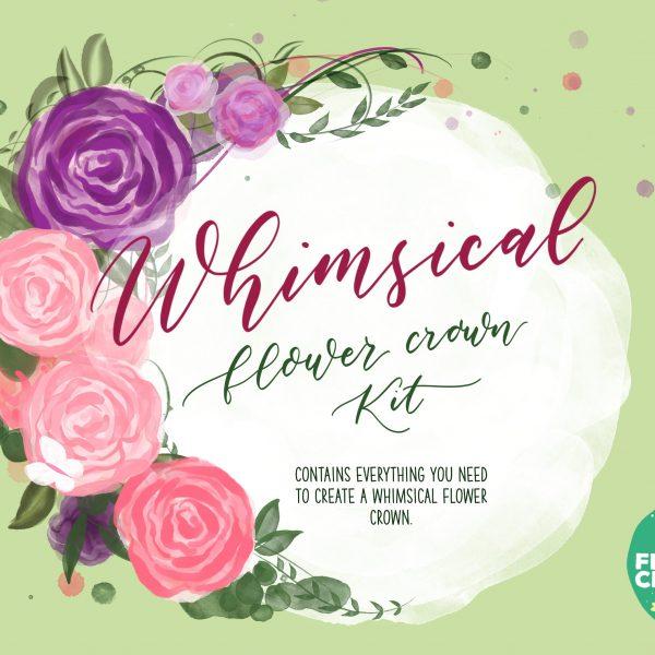 whimsical diy flower crown kit